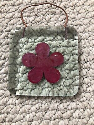 JO DOWNS Glass Flower Hanging Decoration • 4£
