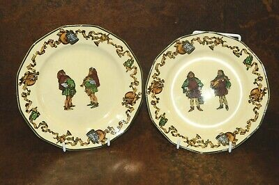 Royal Doulton Hand Painted Plate Medieval Characters C. 1932 • 12£