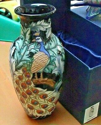 Old Tupton Ware Peacock Design Vase 8.75   TW1901 • 44.95£