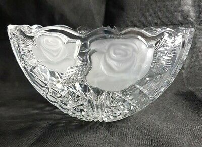 Beautiful Heavy Cut Glass / Crystal Bowl (Weight - 1.4 Kg) • 19.99£