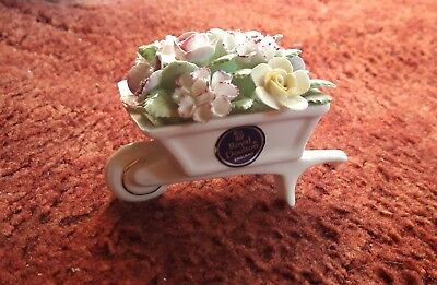 Royal Doulton Fine Bone China Flower Wheel Barrow Posey ( Used ) Excellent Cond. • 5.39£