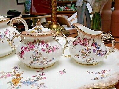 Antique Royal Crown Derby Sugar Bowl And Jug 1891  • 49.95£