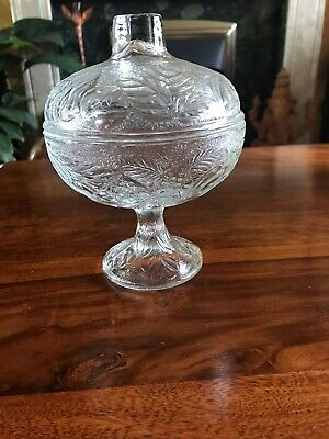 Vintage Globe Shaped Crystal Cut Glass Bon Bon/Sugar Dish With Lid  • 7.50£