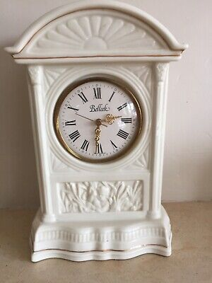 Belleek Mantle Clock • 15£