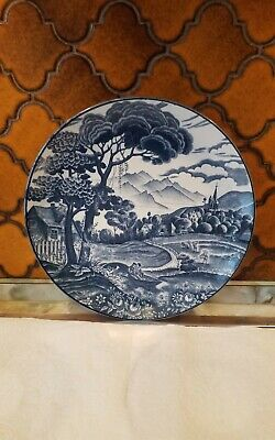 Vintage Blue And White Plate/charger..12inch. • 4.99£