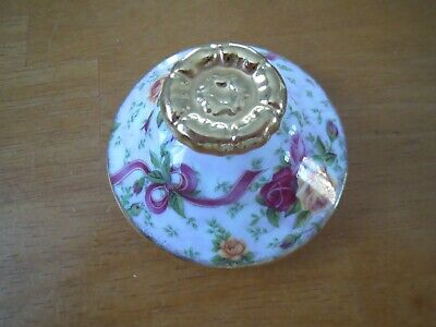 Royal Albert Old Country Roses Ruby Celebration Lid For Sugar Bowl Good • 6.99£