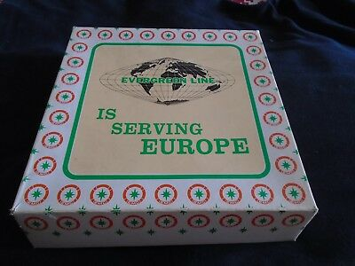 A Display Plate From The Evergreen Shipping Line From The 1970's In Box • 6.99£