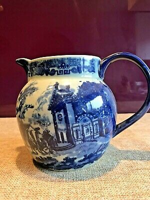 A Beautiful Vintage Medium Victoria Ware Ironstone Flow Blue Style Jug • 29.99£