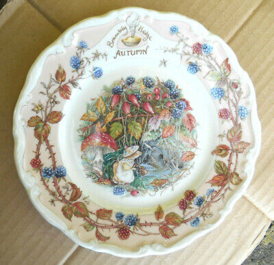 Royal Doulton Brambly Hedge Autumn Afternoon Tea Plate By Jill Barklem • 4.99£