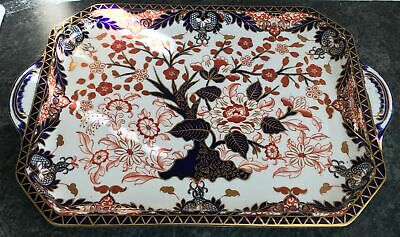 Antique Victorian ROYAL CROWN DERBY Porcelain KINGS IMARI Pattern 19.25  TRAY • 300£