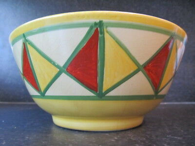 Clarice Cliff  Early Bizarre Geometric Pattern Newport Pottery Bowl • 45£