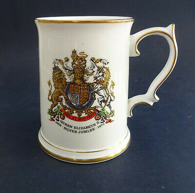 Royal Grafton China Tankard - Queen Elizabeth II 1977 Silver Juibilee • 7.99£