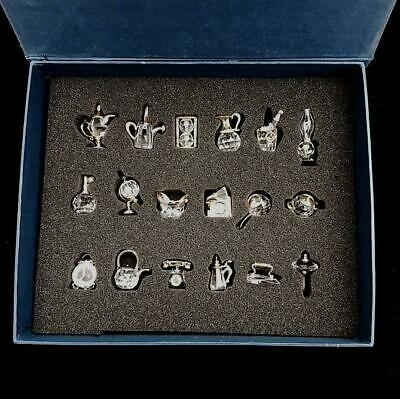 Boxed Set Of 18 Lead Crystal Miniature Ornaments • 24.99£