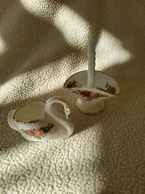Royal Albert OCR Swan And Basket Miniatures- Fab Condition  • 5£