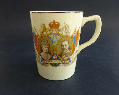 China Mug King George V & Queen Mary 1935 Silver Jubilee • 14.99£