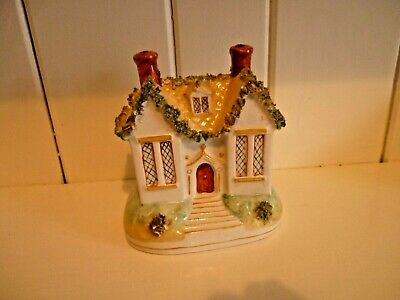 Nice Vintage Mossware Hand Painted Cottage • 6.99£