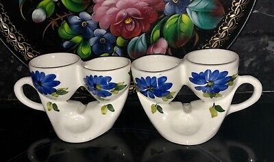 Vintage Toni Raymond Pottery Double Egg Cup Holders Set Of 2 1960s • 25£