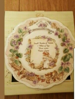 * Royal Doulton Brambly Hedge Rare Plate - Crystalised Violets Boxed * • 135£