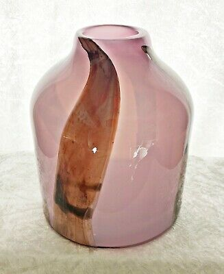HUGE & EARLY British Studio Glass Vase By Dillon Clarke - Signed • 65£