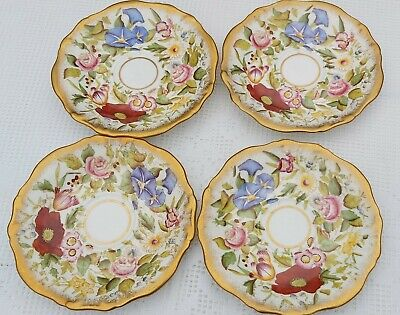 4 X Hammersley Queen Anne Saucers 5.65 Inches • 60£