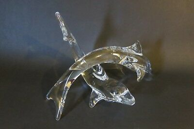 A Pair Of Daum Dolphins Glass Figurines • 649.95£