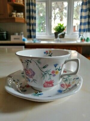 Laura Ashley 2 X Vintage ''Chinese Silk'' Tea Cups And Saucers • 18£