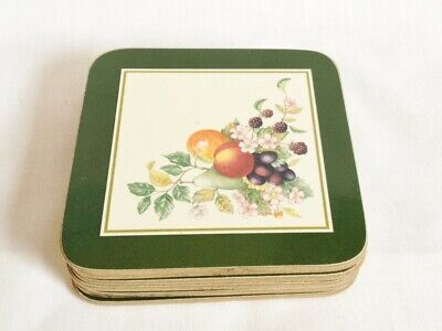 Johnson Brothers Fresh Fruit Cork Backed Drink Coasters X 6  • 10£
