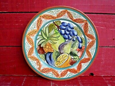 Large Decorated Pottery Serving Platter Serving Plate - Made In Portugal  • 14.99£