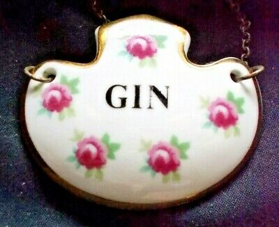 A Royal Adderley China  GIN  Decanter Label Bottle Ticket • 4£