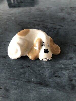 W.R. Midwinter Peeping Basset Hound Dog Figurine Vintage Made In England Cute • 14£