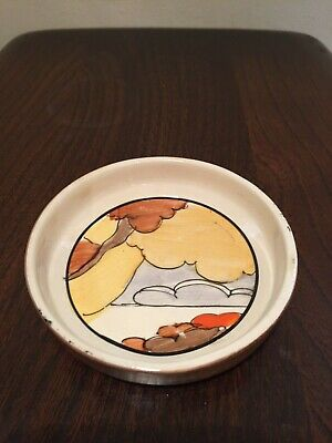 Clarice Cliff Coral Firs Pattern Pin Dish • 99.99£