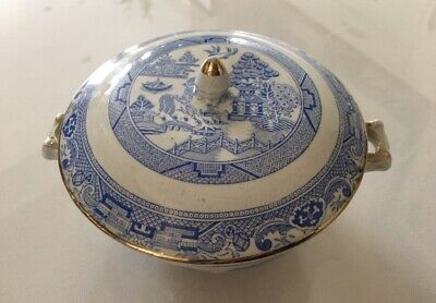 Corona Ware Willow Lidded Dish Vintage S Hancock & Sons • 9.99£