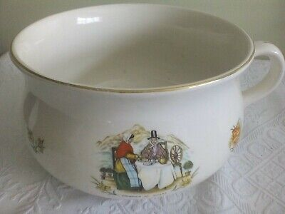 Chamber Pot/planter, Lord Nelson Pottery 'Souvenir Of Wales' Ware, With Map • 15£