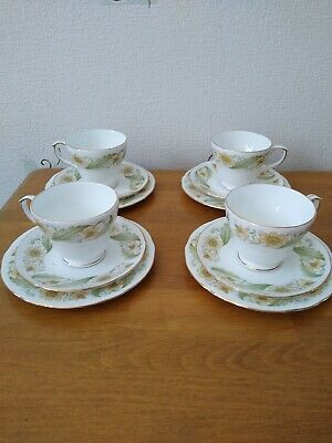 Duchess Bone China Greensleeves Set Of 4 Cups, Saucers And Side Plates • 9.99£