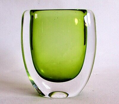 Pale Green Sommerso Vase By Vicke Lindstrand For Kosta • 55£