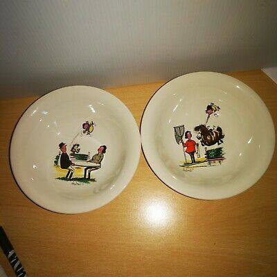Thelwell Cereal Bowls Grays X 2 • 13.99£