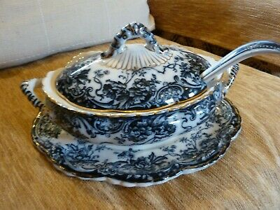 Chatsworth Late Mayers Gravy Boat/Tureen With Ladel And Underplate • 25£