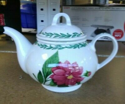 Hand Made  Staffordshire  England Teapot With Foral Design • 3£