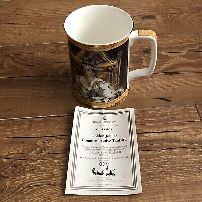 Royal Doulton Limited Edition QEll Golden Jubilee Large Tankard 871 Of 2000 • 39.99£