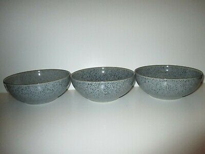 Denby Studio Grey 3 X Coupe Cereal Bowls New First Quality Excellent Condition • 39.50£