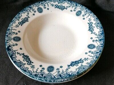 3× Vintage Empire Ware Pottery. Blue And White Savoy 1925- 1938 Stoke-on-Trent. • 15£