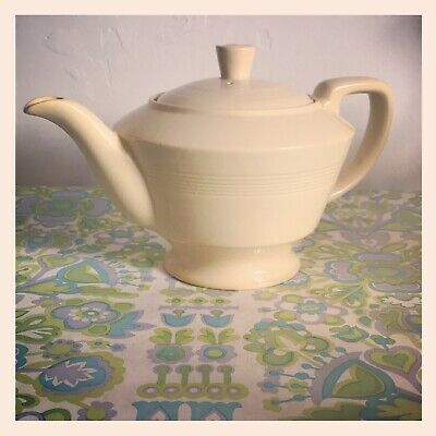 ✿ Vintage Woods Ware ' Jasmine ' Yellow 2 Pint Teapot Excellent Condition ✿ • 50£