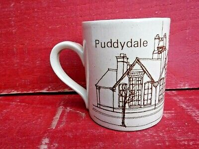 Vintage Pottery Mug - Puddydale School 1909 - 1982 - Made In Scotland • 4.99£