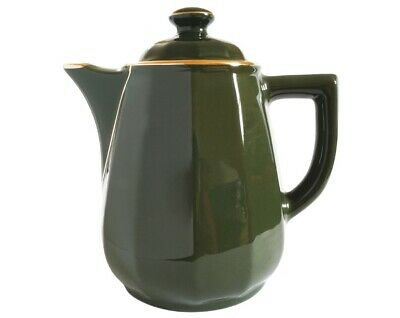 Apilco Green And Gold Coffee Pot  French Bistro Ware  • 20£