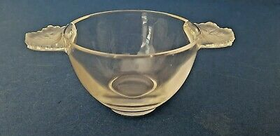 A Lalique Of France Twin Handled Sundae Bowl Honfleur Design, Circa 1950s Signed • 57.50£