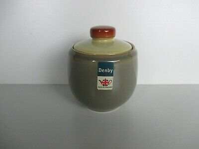 Denby Pottery Fire Covered Sugar Bowl New First Quality Excellent Condition • 25.50£