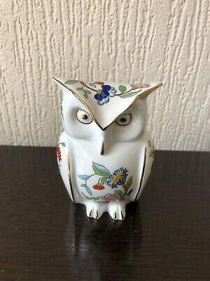 Aynsley Pembroke Owl Trinket Box Fine Bone China Vintage British 99p Start • 0.99£