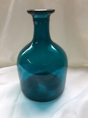 Vintage Retro Teal Glass Decanter / Bottle  • 20£