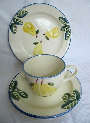 Poole Pottery Dorset Fruits Pear Cup, Saucer, Plate - Trio • 10.50£