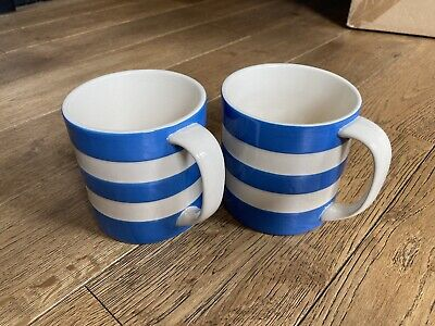 Huge TG Green Cornishware Blue 15oz Mugs X 2 In Excellent Condition • 24£
